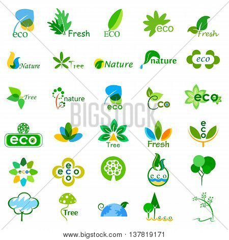 vector illustration of collection of ecological and environmental icons