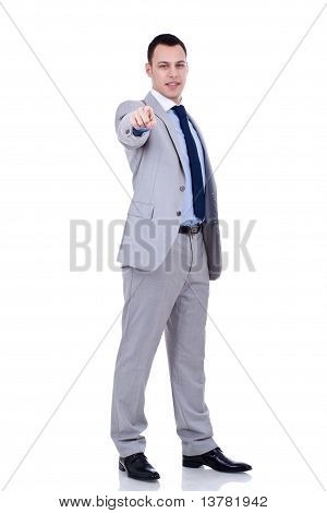 Business Man Pointing To The Camera