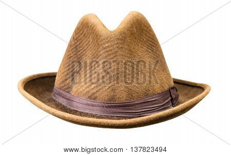 Mens vintage hat isolated on white background