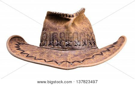headdress cowboy hat isolated on white background