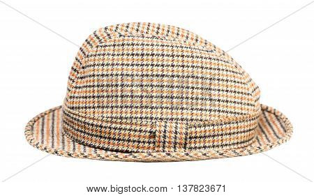 hat into the cell isolated on white background