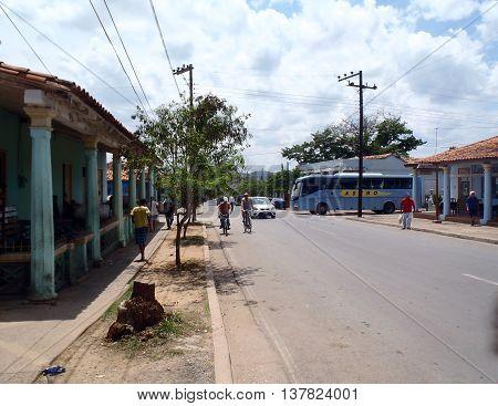 Daily Life Street Scene In Vinales