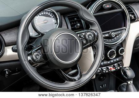 Interior of a generic sport modern car