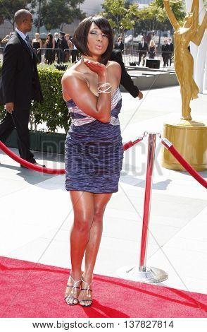 Monique Coleman at the 2008 EMMY Creative Arts Awards held at the Nokia Theater in Los Angeles, USA on September 13, 2009.