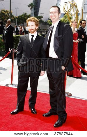 Seth Green and Matthew Senreich at the 2008 EMMY Creative Arts Awards held at the Nokia Theater in Los Angeles, USA on September 13, 2009.