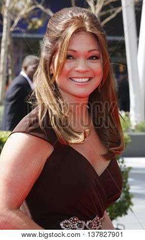 Valerie Bertinelli at the 2008 EMMY Creative Arts Awards held at the Nokia Theater in Los Angeles, USA on September 13, 2009.