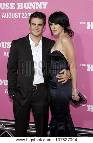 Micah Alberti and Rumer Willis at the Los Angeles premiere of 'House Bunny' held at the Mann Village Theatre in Westwood, USA on August 20, 2008.
