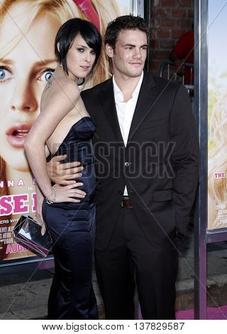 Micah Alberti and Rumer Willis at the Los Angeles premiere of 'The House Bunny' held at the Mann Village Theater in Westwood, USA on August 20, 2008.
