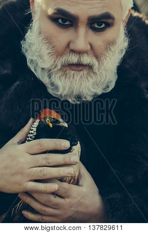 Bearded Man With Pheasant