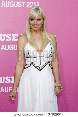Anna Faris at the Los Angeles premiere of 'The House Bunny' held at the Mann Village Theater in Westwood, USA on August 20, 2008.