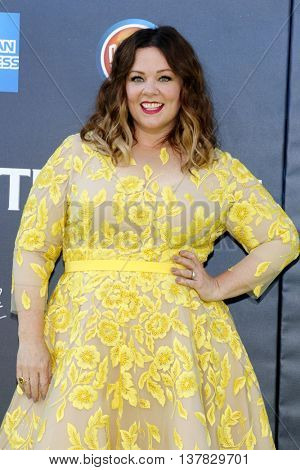 Melissa McCarthy at the World premiere of 'Ghostbusters' held at the TCL Chinese Theatre in Hollywood, USA on July 9, 2016.
