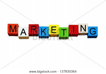 Marketing - business sign for marketing sales and advertising - design isolated on white background.