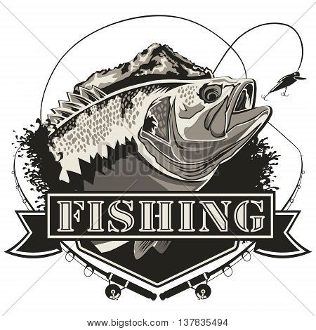 Big Bass Fishing Logo