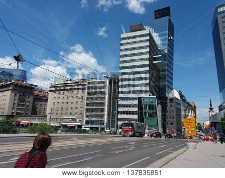 WIEN AUSTRIA - CIRCA JUNE 2016: View of the city centre