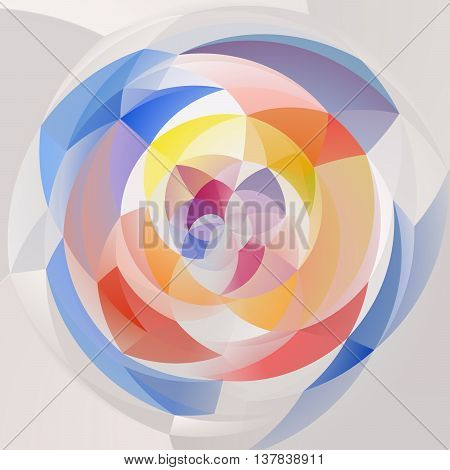 abstract modern swirl background - pastel full color spectrum colored - white and gray