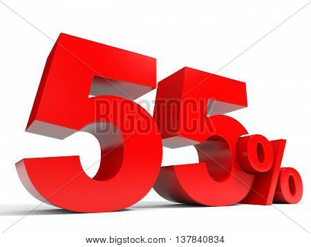 Red Fifty Five Percent Off. Discount 55%.