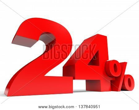 Red Twenty Four Percent Off. Discount 24%.