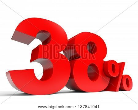 Red Thirty Eight Percent Off. Discount 38%.