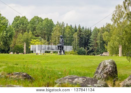 KHATYN the BELARUSIAN Memorial complex in memory of civilians who died of hands fascist aggressors