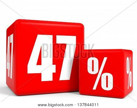 Red Sale Cubes. Forty Seven Percent Discount.