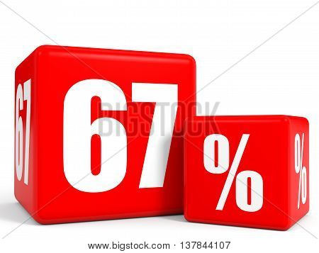 Red Sale Cubes. Sixty Seven Percent Discount.