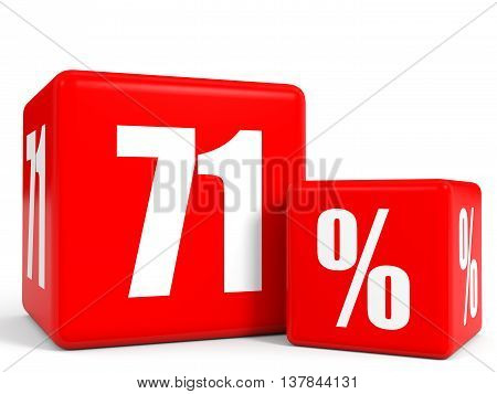 Red Sale Cubes. Seventy One Percent Discount.