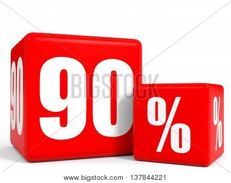 Red Sale Cubes. Ninety Percent Discount.