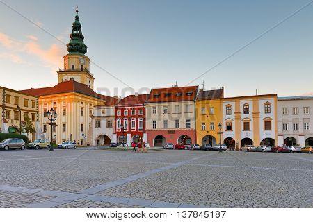 KROMERIZ, CZECH REPUBLIC - JUNE 21, 2016: Bishop's Palace in the main square of Kromeriz city in Moravia, Czech Republic on June 21, 2016.