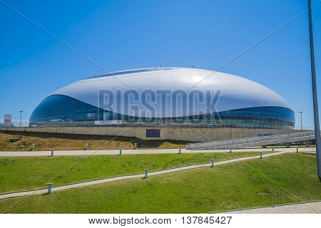 Sochi, Russia - July 6: Bolshoy Ice Dome in Olympic Park for World Choir Games 2016