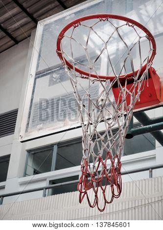 Basketball Hoop in Sport Hall, Sport concept