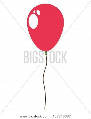 helium balloon flat icon isolated vector illustration