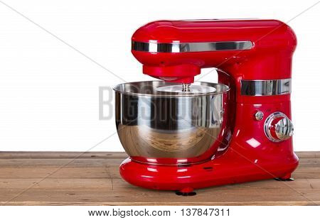Kneading machine pastry with white a background
