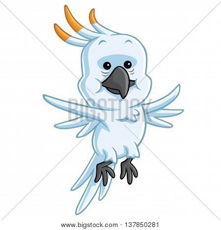 Cockatoo Cartoon Mascot Illustration Clipart Vector Art