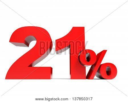 Red Twenty One Percent Off. Discount 21%.