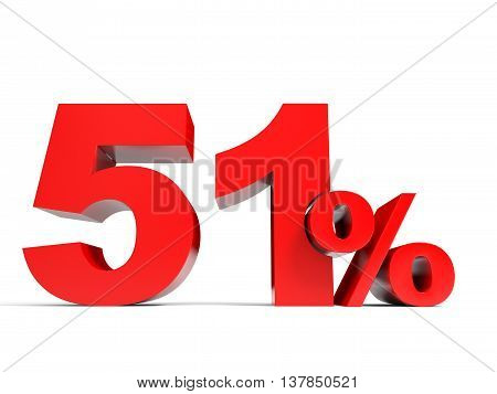 Red Fifty One Percent Off. Discount 51%.