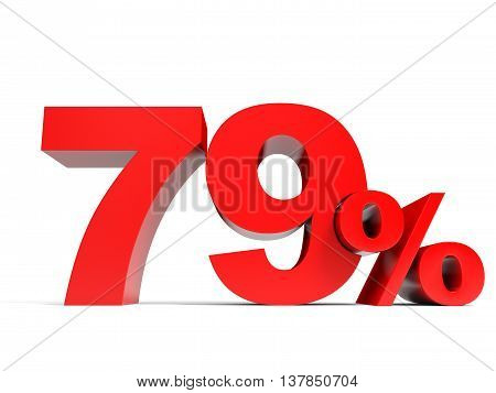 Red Seventy Nine Percent Off. Discount 79%.