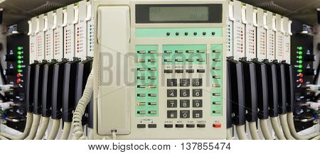 Office Telephone With Phone Switch System