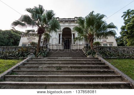Stairs to the Mansion of Lage Park in Rio de Janeiro