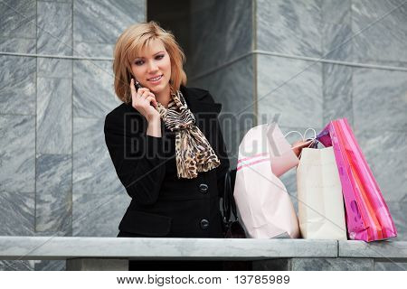Young Shopper On The Phone.