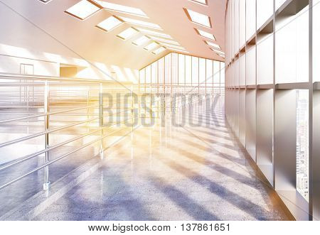 Empty Office With Sunlight