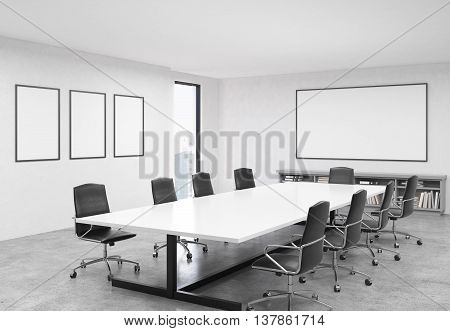 Conference Room With Blank Banners