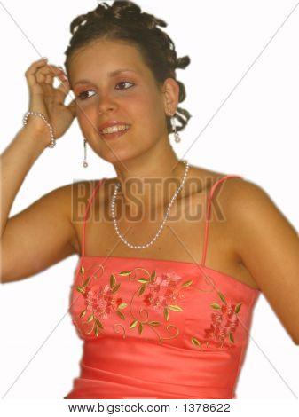 Model Girl In Formal Dress