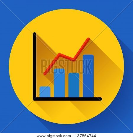 Business diagram chart vector icon Modern flat 2.0 style.
