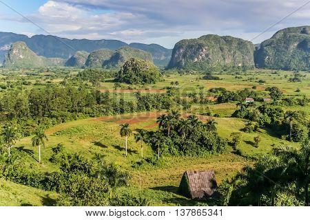 View of Valle de Vinales in the west of Cuba