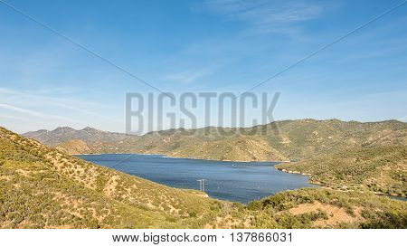 Silverwood Lake Overlook, from Rim of the World Scenic Byway (CA-138), near Crestline, California.