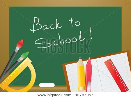 Vector illustration of several educational objects