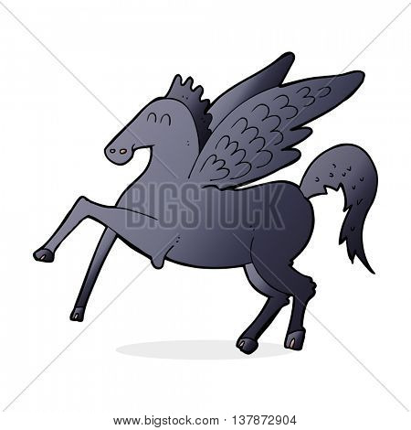 cartoon magic flying horse