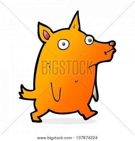 cartoon funny little dog