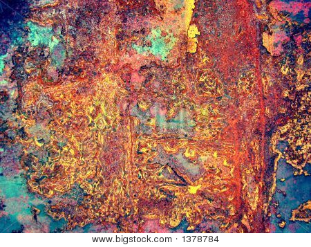 Iron Painted Sheet With Rust