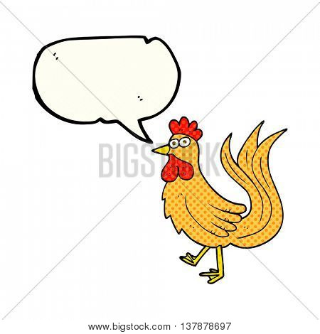 freehand drawn comic book speech bubble cartoon cock
